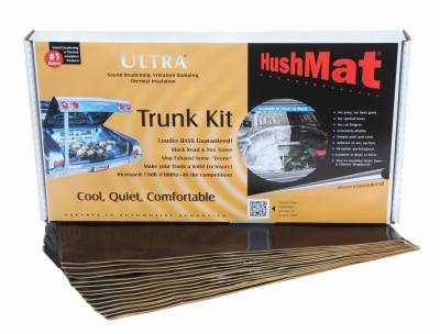 "01-04 LB7 - Interior Accessories - Hushmat - Hushmat Ultra Insulating/DampingMaterial Cargo Kit(16) 12""x23"" Stealth BlackFoil 31 SqFt 10330"