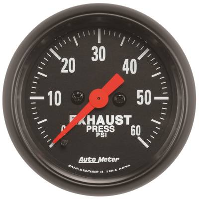 Gauges & Pods - Digital Gauges - Auto Meter - Auto Meter Gauge; Exhaust Press; 2 1/16in.; 60psi; Digital Stepper Motor; Z Series 2672