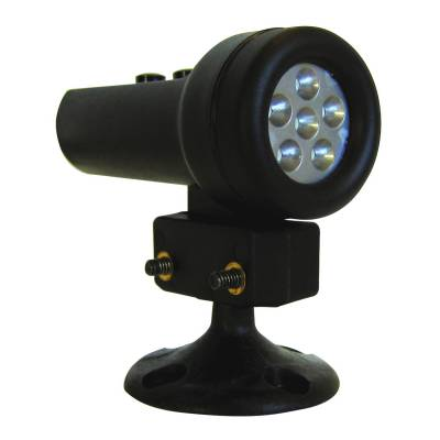 Shop by Category - Interior Accessories - Auto Meter - Auto Meter Shift Light; 5 Red LED; Black; incl. Pedestal Mount; for Race Use Only 5321