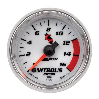 Water Methanol & Nitrous - Nitrous - Auto Meter - Auto Meter Gauge; Nitrous Pressure; 2 1/16in.; 1600psi; Digital Stepper Motor; C2 7174