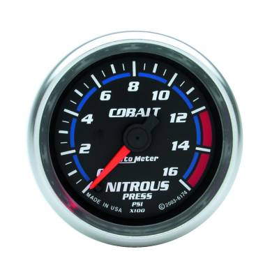 Water Methanol & Nitrous - Nitrous - Auto Meter - Auto Meter Gauge; Nitrous Pressure; 2 1/16in.; 1600psi; Digital Stepper Motor; Cobalt 6174