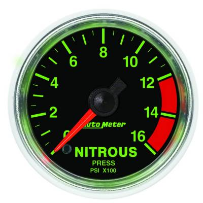 Water Methanol & Nitrous - Nitrous - Auto Meter - Auto Meter Gauge; Nitrous Pressure; 2 1/16in.; 1600psi; Digital Stepper Motor; GS 3874