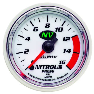 Water Methanol & Nitrous - Nitrous - Auto Meter - Auto Meter Gauge; Nitrous Pressure; 2 1/16in.; 1600psi; Digital Stepper Motor; NV 7374