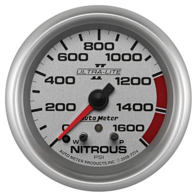 Water Methanol & Nitrous - Nitrous - Auto Meter - Auto Meter Gauge; Nitrous Press; 2 5/8in.; 1600psi; Stepper Motor w/Peak/Warn; Ultra-Lite I 7774