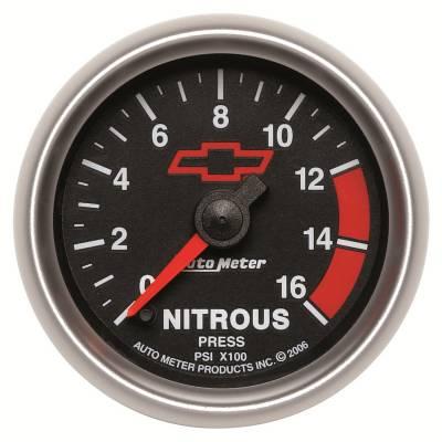 Water Methanol & Nitrous - Nitrous - Auto Meter - Auto Meter Gauge; Nitrous Pressure; 2 1/16in.; 1600psi; Digital Stepper Motor; GM Bowtie Bl 3674-00406