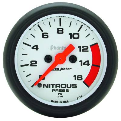 Water Methanol & Nitrous - Nitrous - Auto Meter - Auto Meter Gauge; Nitrous Pressure; 2 1/16in.; 1600psi; Digital Stepper Motor; Phantom 5774