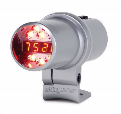 Shop by Category - Interior Accessories - Auto Meter - Auto Meter Shift Light; Digl w/Multi-Color LED; Slvr; Pedestal w/RPM Playbk; DPSS Level 3 5351