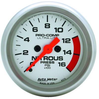 Water Methanol & Nitrous - Nitrous - Auto Meter - Auto Meter Gauge; Nitrous Pressure; 2 1/16in.; 1600psi; Digital Stepper Motor; Ultra-Lite 4374