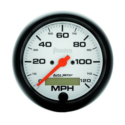 Gauges & Pods - Digital Gauges - Auto Meter - Auto Meter Gauge; Speedo; 3 3/8in.; 120mph; Elec. Program w/LCD odo; Phantom 5887