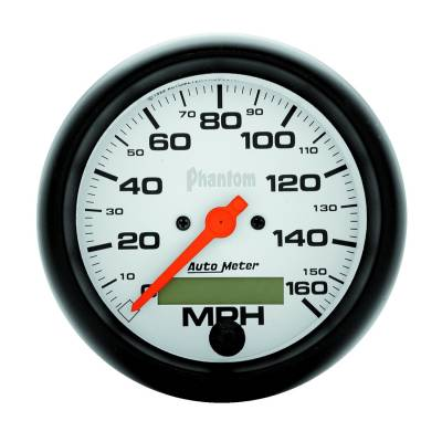 Gauges & Pods - Digital Gauges - Auto Meter - Auto Meter Gauge; Speedo; 3 3/8in.; 160mph; Elec. Program w/LCD odo; Phantom 5888
