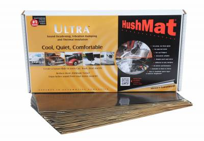 "94-97 7.3L Power Stroke - Interior Accessories - Hushmat - Hushmat Ultra Insulating/Damping Material Floor/Dash Kit(20)12""x23""Black Foil 38.7SqFt 10400"