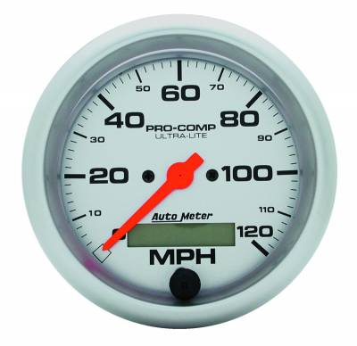 Gauges & Pods - Digital Gauges - Auto Meter - Auto Meter Gauge; Speedo; 3 3/8in.; 120mph; Elec. Program w/LCD odo; Ultra-Lite 4487