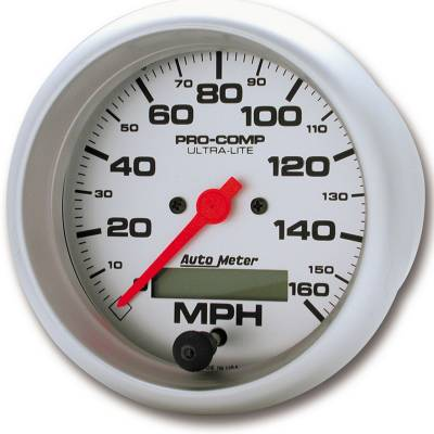 Gauges & Pods - Digital Gauges - Auto Meter - Auto Meter Gauge; Speedo; 3 3/8in.; 160mph; Elec. Program w/LCD odo; Ultra-Lite 4488