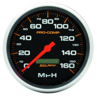Gauges & Pods - Digital Gauges - Auto Meter - Auto Meter Gauge; Speedo; 3 3/8in.; 160mph; Elec. Program w/LCD odo; Pro-Comp 5189