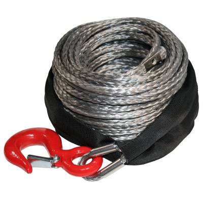 Bulldog Winch - Bulldog Winch Synthetic Rope 8mm x 100ft, up to 8k Winch 20082