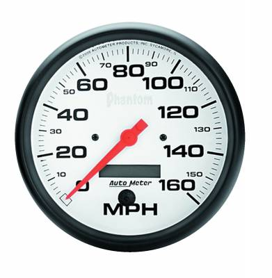 Gauges & Pods - Digital Gauges - Auto Meter - Auto Meter Gauge; Speedo; 5in.; 160mph; Elec. Program w/LCD odo; Phantom 5889
