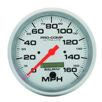 Gauges & Pods - Digital Gauges - Auto Meter - Auto Meter Gauge; Speedo; 5in.; 160mph; Elec. Program w/LCD odo; Ultra-Lite 4489
