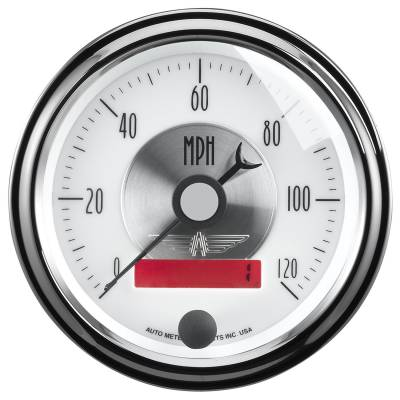 Gauges & Pods - Digital Gauges - Auto Meter - Auto Meter Gauge; Speedo; 3 3/8in.; 120mph; Elec. Program w/LCD odo; Prestige Pearl 2084