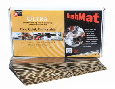 "Hushmat - Hushmat Ultra Insulating/Damping Material Bulk Kit - (30) 12""x23"" Black Foil 58.1 SqFt 10500"
