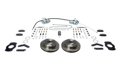 Stainless Steel Brakes - Stainless Steel Brakes Kit Rear - 1 (Single) Piston with 10.5in Rotor - (staggered shocks) - BLACK A125-F