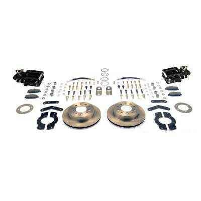 Stainless Steel Brakes - Stainless Steel Brakes Kit Rear - 1 (Single) Piston with 10.5in Rotor - (Full Size GM Car) - BLACK A125-4BK