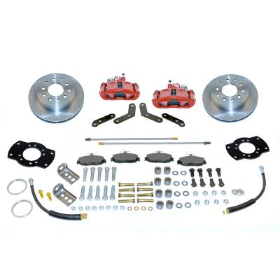 Stainless Steel Brakes - Stainless Steel Brakes Kit Rear - 1 (Single) Piston with 10.5in Rotor - (Full Size GM Car) - BLACK A125-4R