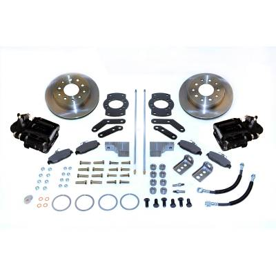 Stainless Steel Brakes - Stainless Steel Brakes Kit Rear - 1 (Single) Piston with 10.5in Rotor- (non-staggered shocks) - BLACK A125-3BK