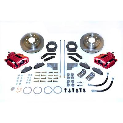 Stainless Steel Brakes - Stainless Steel Brakes Kit Rear - 1 (Single) Piston with 10.5in Rotor- (non-staggered shocks) - BLACK A125-3R