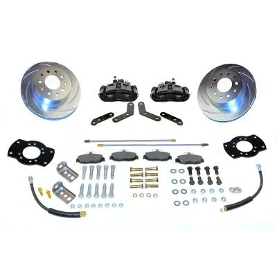 Stainless Steel Brakes - Stainless Steel Brakes Kit Front - 1 (Single) Piston with 11in Rotor - Power - Stock Ride Height A125-2BK