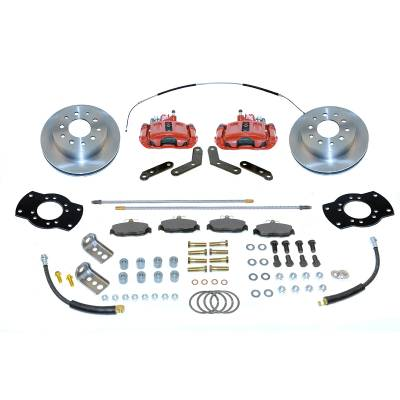Stainless Steel Brakes - Stainless Steel Brakes Kit Rear - 1 (Single) Piston with 10.5in Rotor - (staggered shocks) - BLACK A125-FR