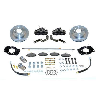 Stainless Steel Brakes - Stainless Steel Brakes Kit Rear - 1 (Single) Piston with 10.5in Rotor - (staggered shocks) - BLACK A125BK