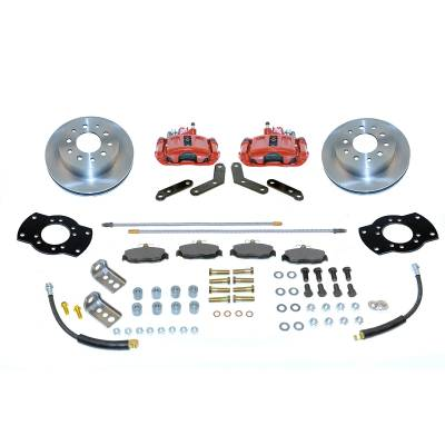 Stainless Steel Brakes - Stainless Steel Brakes Kit Rear - 1 (Single) Piston with 10.5in Rotor - (staggered shocks) - BLACK A125R
