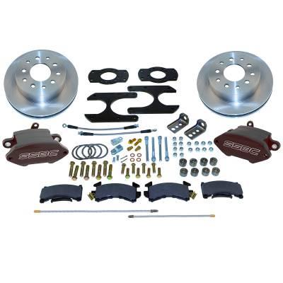 Stainless Steel Brakes - Stainless Steel Brakes Disc Brake Kit Rear - 1 (Single) Piston with 10.5in Rotor - BLACK A125-46BK