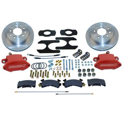 Stainless Steel Brakes - Stainless Steel Brakes Disc Brake Kit Rear - 1 (Single) Piston with 10.5in Rotor - RED A125-46R