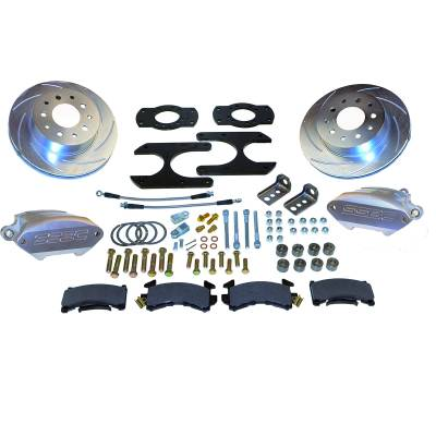 Stainless Steel Brakes - Stainless Steel Brakes Kit Front - 1 (Single) Piston with 11in Rotor - Power - Stock Ride Height A125-30