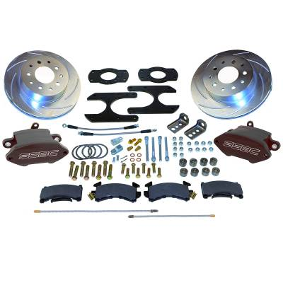 Stainless Steel Brakes - Stainless Steel Brakes Kit Front - 1 (Single) Piston with 11in Rotor - Power - Stock Ride Height A125-30BK