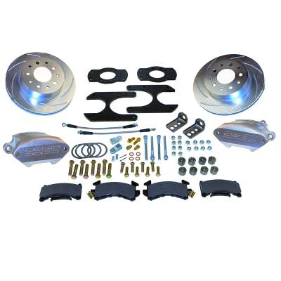 Stainless Steel Brakes - Stainless Steel Brakes Kit Front - 1 (Single) Piston with 11in Rotor - Power - Stock Ride Height A125-26