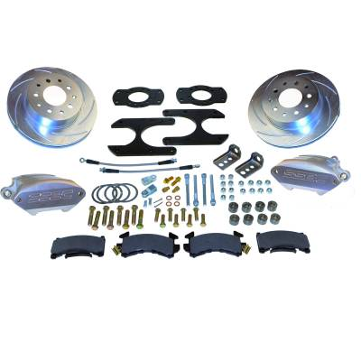 Stainless Steel Brakes - Stainless Steel Brakes Kit Front - 1 (Single) Piston with 11in Rotor - Power - Stock Ride Height A125-27
