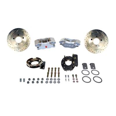 Stainless Steel Brakes - Stainless Steel Brakes Disc Brake Kit Rear - 4 Piston Comp S with 12in Rotor (non-staggered shocks) A125-33
