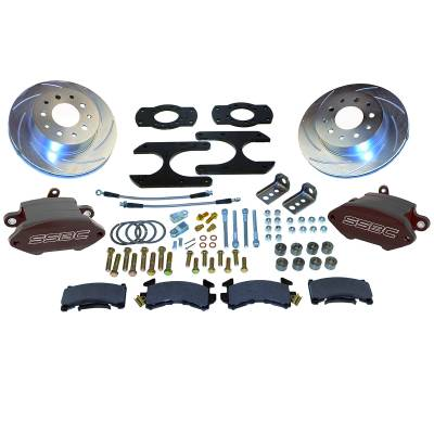 Stainless Steel Brakes - Stainless Steel Brakes Kit Front - 1 (Single) Piston with 11in Rotor - Power - Stock Ride Height A125-26BK