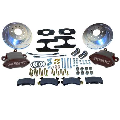 Stainless Steel Brakes - Stainless Steel Brakes Kit Front - 1 (Single) Piston with 11in Rotor - Power - Stock Ride Height A125-27BK