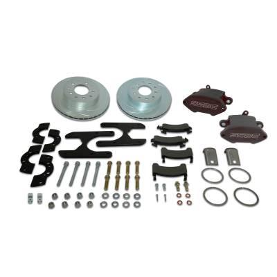 Stainless Steel Brakes - Stainless Steel Brakes Disc Brake Kit Rear - 1 (Single) Piston Sport R1 with 11.25in Rotor - BLACK A125-47BK