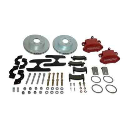 Stainless Steel Brakes - Stainless Steel Brakes Disc Brake Kit Rear - 1 (Single) Piston Sport R1 with 11.25in Rotor - RED A125-47R