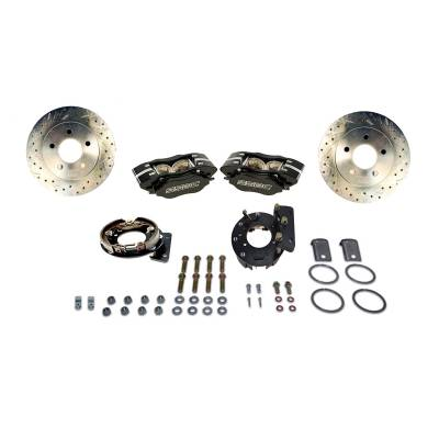 Stainless Steel Brakes - Stainless Steel Brakes Kit Rear - 4 Piston Comp S with 12in Rotor (non-staggered shocks) - BLACK A125-33BK