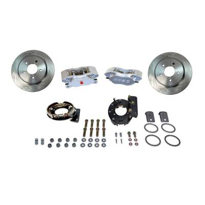 Stainless Steel Brakes - Stainless Steel Brakes Kit Rear - 4 Piston Comp S with 12in Rotor (non-staggered shocks) - RED A125-33R