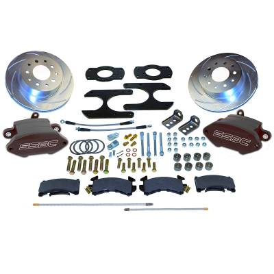 Stainless Steel Brakes - Stainless Steel Brakes Rear - 1 Piston Sport R1 Plus with 12.8in Rotor - (non-staggered shocks) A125-37BK