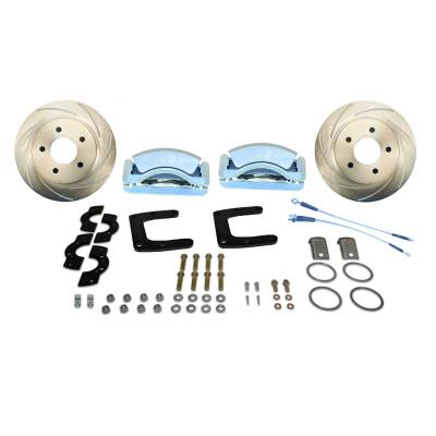 Stainless Steel Brakes - Stainless Steel Brakes Disc Brake Kit Rear - 3 Piston Tri-Power with 13in Rotor - (Full Size GM Car) A125-45
