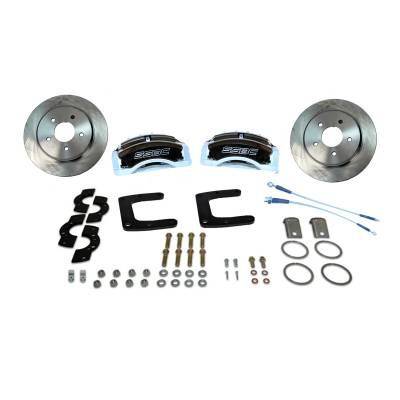 Stainless Steel Brakes - Stainless Steel Brakes Kit Rear - 3 Piston Tri-Power with 13in Rotor - (Full Size GM Car) - BLACK A125-45BK