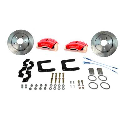 Stainless Steel Brakes - Stainless Steel Brakes Kit Rear - 3 Piston Tri-Power with 13in Rotor - (Full Size GM Car) - BLACK A125-45R