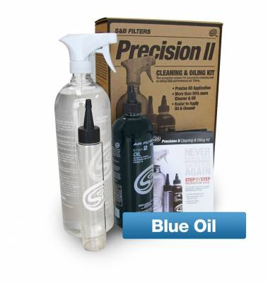 Air Intakes & Parts - Cleaning Kits - S&B Filters - S&B Filters Precision II: Cleaning & Oil Kit (Blue Oil) 88-0009